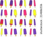 vector colorful cartoon waffle... | Shutterstock .eps vector #214886536