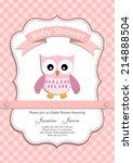 baby girl baby shower...   Shutterstock .eps vector #214888504