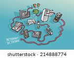 internet of things concept... | Shutterstock .eps vector #214888774