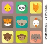 Animal Flat Icons Vector Set