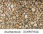 A Pile Of Cut Tree Logs  ...