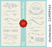 vintage elements and page... | Shutterstock .eps vector #214909414