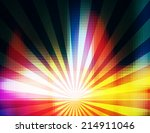 colorful rays background. | Shutterstock . vector #214911046