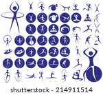 icons with symbols of people in ...   Shutterstock .eps vector #214911514