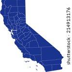 california map | Shutterstock .eps vector #214913176