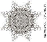 mandala. round ornament pattern.... | Shutterstock .eps vector #214928254