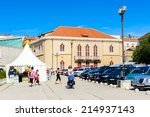 sibenik  croatia   aug 26  2014 ... | Shutterstock . vector #214937143