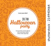 halloween vector invitation... | Shutterstock .eps vector #214940464
