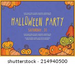 halloween vector invitation... | Shutterstock .eps vector #214940500