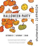 halloween vector invitation... | Shutterstock .eps vector #214940524