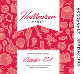 halloween vector invitation... | Shutterstock .eps vector #214940539