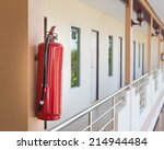 fire extinguisher. | Shutterstock . vector #214944484