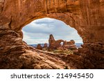 north window  arches national... | Shutterstock . vector #214945450