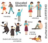 educated students in many... | Shutterstock .eps vector #214959340