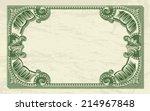 Vintage Dollar Frame As Money...