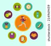 vector fitness infographics...   Shutterstock .eps vector #214969459