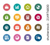 business color icons | Shutterstock .eps vector #214976830