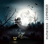scary house in the woods  ... | Shutterstock .eps vector #214980820