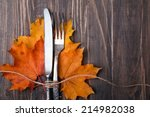 Knife  Fork And Yellow Autumn...