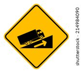 caution sign road on isolated... | Shutterstock .eps vector #214984090