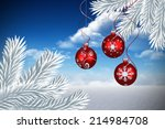 digital hanging christmas... | Shutterstock . vector #214984708