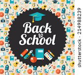 modern school flat design flyer ... | Shutterstock . vector #214988239