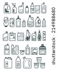 household chemicals and... | Shutterstock .eps vector #214988680