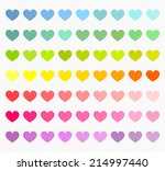 colorful hearts collection.... | Shutterstock .eps vector #214997440