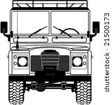 Safari Land Rover Front Of The...