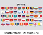 europe continent flag pack | Shutterstock .eps vector #215005873