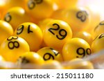 background of yellow balls with ... | Shutterstock . vector #215011180