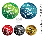 vector   colorful circle... | Shutterstock .eps vector #215015518