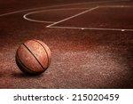abandoned streetball court | Shutterstock . vector #215020459