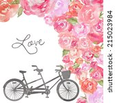 bicycle built for two.... | Shutterstock . vector #215023984