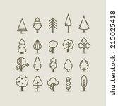 tree outlines | Shutterstock .eps vector #215025418