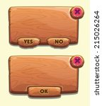 wooden cartoon panels for game...
