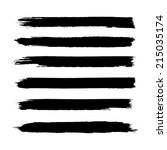 vector set of grunge brush... | Shutterstock .eps vector #215035174
