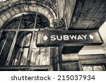Vintage Subway Sign In...