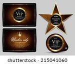 vip pass collection design | Shutterstock .eps vector #215041060