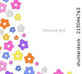 colorful flowers greeting card | Shutterstock .eps vector #215046763