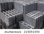 Stack Of Cement Blocks At The...