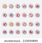 icon set   forbidden | Shutterstock .eps vector #215054890