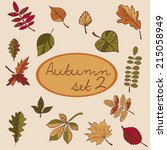 set of autumn leaves for your... | Shutterstock .eps vector #215058949