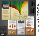 creative vector white brochure... | Shutterstock .eps vector #215062534