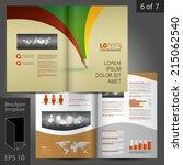 creative vector brochure... | Shutterstock .eps vector #215062540
