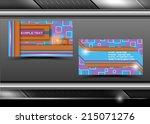 vector abstract creative... | Shutterstock .eps vector #215071276