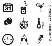 new years eve icons | Shutterstock .eps vector #215086240