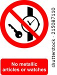 no metallic articles or watches | Shutterstock .eps vector #215087110