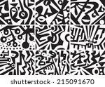 abstract graphic backgrounds set | Shutterstock .eps vector #215091670
