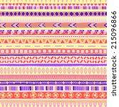 original tribal doddle ethnic... | Shutterstock . vector #215096866